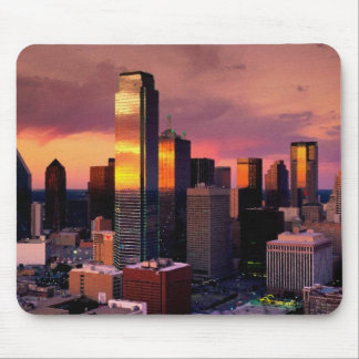 Dallas Skyline at Sunset Mouse Mat