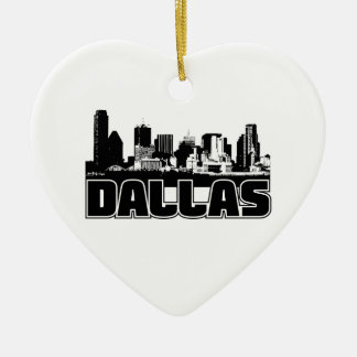 Dallas Skyline Christmas Ornament