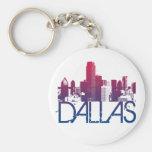 Dallas Skyline Design Keychain