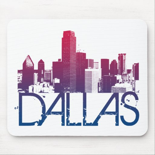 Dallas Skyline Design Mouse Pad