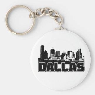 Dallas Skyline Key Ring