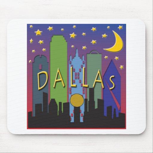 Dallas Skyline nightlife Mouse Pad