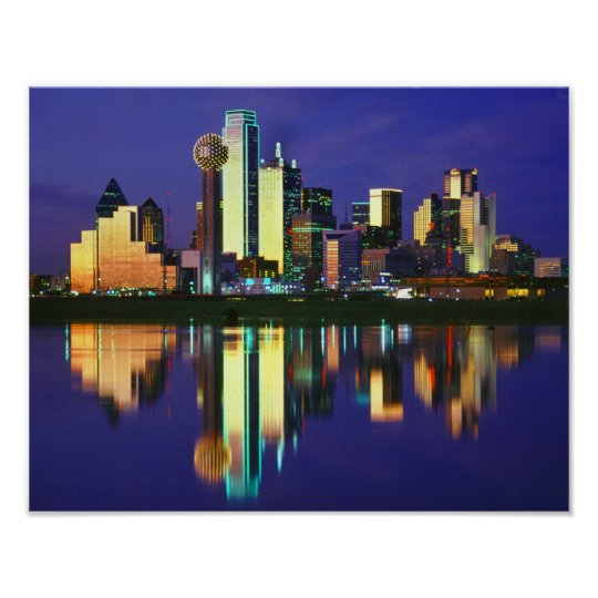 Dallas Skyline Poster