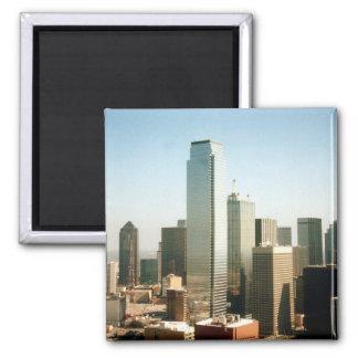 Dallas Skyline Square Magnet