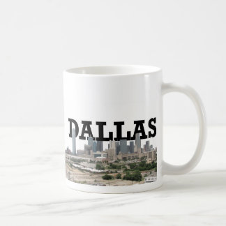 Dallas Skyline with Dallas in the Sky Coffee Mug