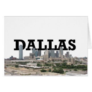 Dallas Skyline with Dallas in the Sky Greeting Card
