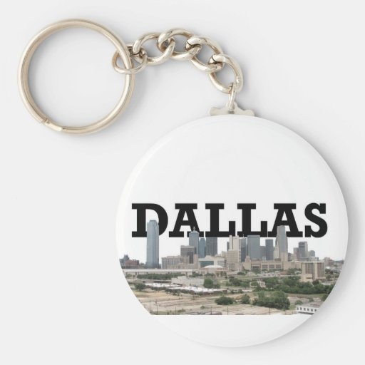 Dallas Skyline with Dallas in the Sky Keychains