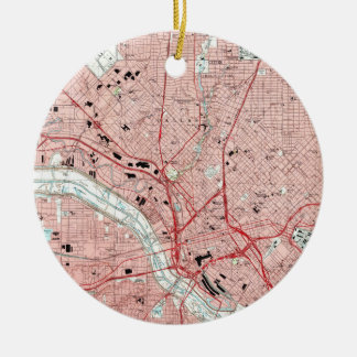 Dallas Texas Map (1995) Christmas Ornament