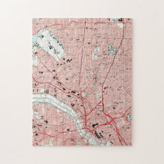 Dallas Texas Map (1995) Jigsaw Puzzle