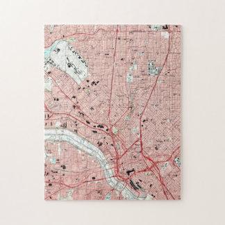 Dallas Texas Map (1995) Jigsaw Puzzle