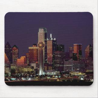Dallas, Texas night skyline Mouse Pad