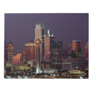 Dallas, Texas night skyline Notepad