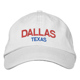 Dallas Texas Personalized Adjustable HatDallas Embroidered Baseball Caps