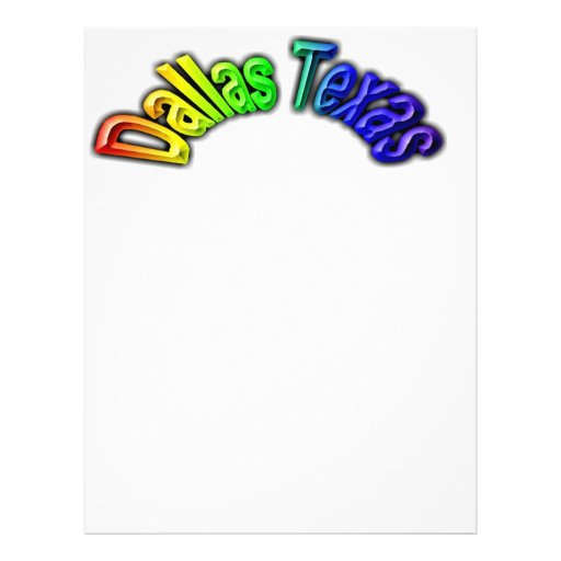 Dallas Texas Popular Rainbow Design Flyers