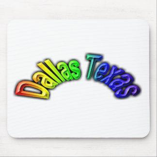 Dallas Texas Popular Rainbow Design Mouse Pad