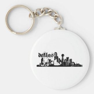 Dallas Texas Put on for your city Basic Round Button Key Ring