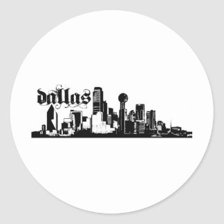 Dallas Texas Put on for your city Round Sticker