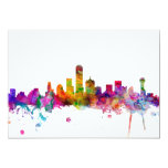 Dallas Texas Skyline 13 Cm X 18 Cm Invitation Card