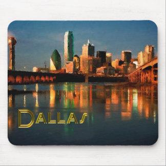 Dallas Texas Skyline at Dusk Mousepad