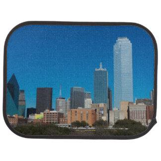 Dallas Texas skyline at sunset Car Mat