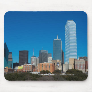 Dallas Texas skyline at sunset Mouse Mat