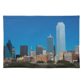 Dallas Texas skyline at sunset Placemat
