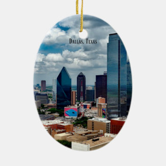 Dallas, Texas skyline Christmas Ornament