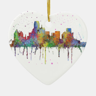 DALLAS, TEXAS SKYLINE CHRISTMAS ORNAMENT