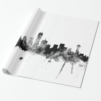 Dallas Texas Skyline Wrapping Paper