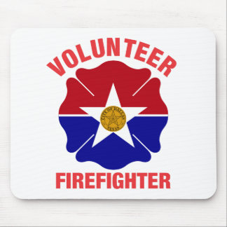 Dallas, TX Flag Volunteer Firefighter Cross Mouse Pad