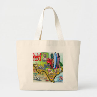 Dallas TX Large Tote Bag
