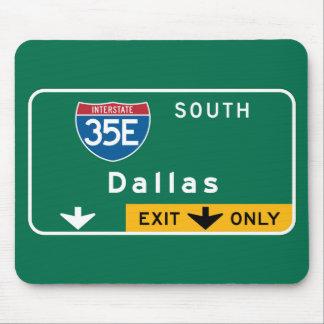Dallas, TX Road Sign Mouse Pad