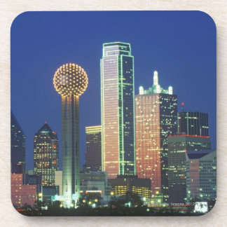 'Dallas, TX skyline at night with Reunion Tower' Coaster