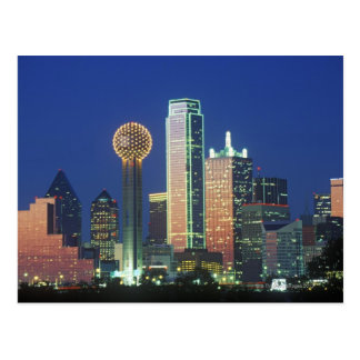 'Dallas, TX skyline at night with Reunion Tower' Postcard