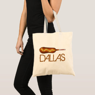 Dallas TX Texas Corndog Corn Dog Mustard Foodie Tote Bag