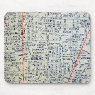Dallas Vintage Map Mouse Pad