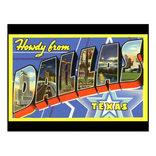 Dallas Vintage Travel Postcard