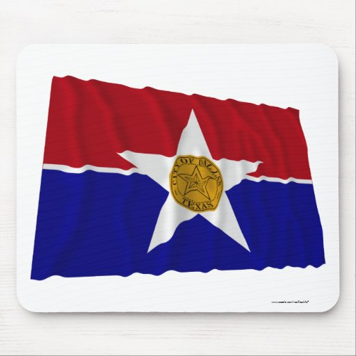 Dallas Waving Flag Mouse Pads