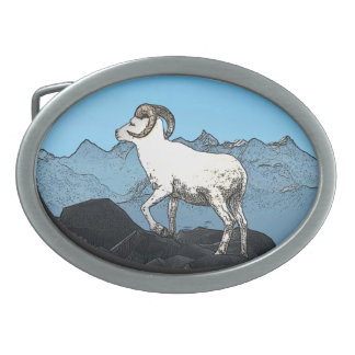 Dall's Sheep Oval Belt Buckles