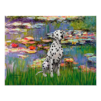 Dalmatian 1 - Lilies 2 Posters