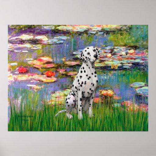 Dalmatian 1 - Lilies 2 Poster