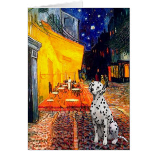 Dalmatian 1 - Terrace Cafe Greeting Card