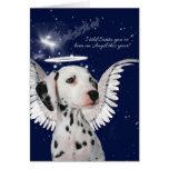 Dalmatian Angel Dog Christmas Card