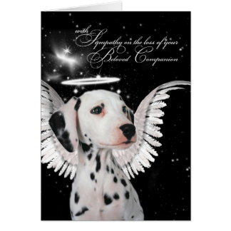 Dalmatian Angel Dog Pet Sympathy Card