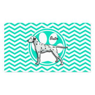 Dalmatian Aqua Green Chevron Business Card
