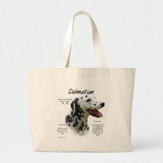 Dalmatian (blk) History Design Large Tote Bag