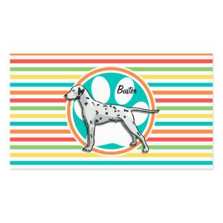 Dalmatian Bright Rainbow Stripes Business Cards