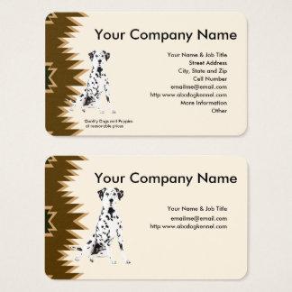 Dalmatian, Brown design on tan Business Card