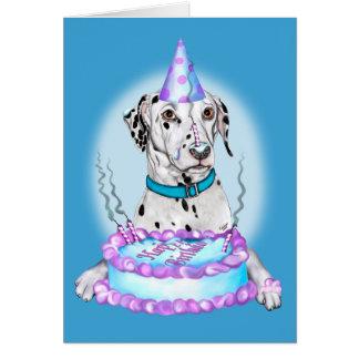 Dalmatian Cake Face Birthday Card