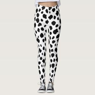 Dalmatian Cow Print Leggings